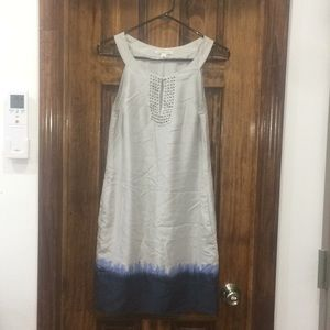 Silk silver and blue dress
